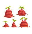cartoon fantasy alien monster plants set vector image vector image