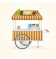 Coffee Market Cart vector image