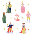 collection of fairytale characters kingqueen vector image vector image