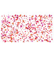 colored heart confetti for womens holidays vector image vector image