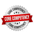Core competency round isolated silver badge vector image