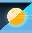 day and night sun and moon vector image vector image