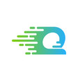 Delivery letter q logo icon design