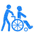 disabled person transportation grunge icon vector image vector image
