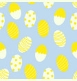 easter eggs with dots and stripes seamless pattern vector image vector image