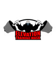 elevation training mask fitness athlete and vector image vector image