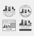 farm house concept logo set template with farm vector image vector image