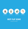 flat icon handicapped set of equipment wheelchair vector image vector image