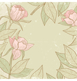 flowers in vintage style vector image