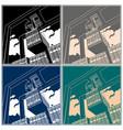 gantry crane vector image vector image