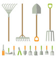 garden tools big set vector image