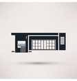 gas station the building is an icon flat style vector image vector image