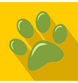 Green Paw Print Icon vector image vector image