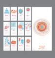 hand draw mini calendar 2018 vector image vector image