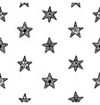 hand drawn christmas stars doodles pattern vector image vector image