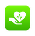 health protection icon green vector image