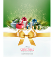 Holiday Christmas background with colorful gift vector image