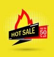 hot sale modern banner vector image vector image