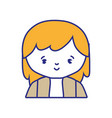 isolated girl design vector image