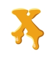 Letter X from honey icon vector image