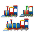 locomotive in three designs vector image