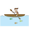 Man at rowboat vector image vector image