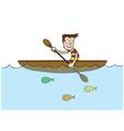 Man at rowboat vector image