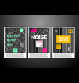 noise posters set with background vector image vector image