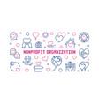 nonprofit organization concept horizontal vector image