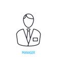 office worker in a business suit outline icon vector image