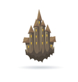 Old castle with a ghoasts isolated vector image vector image