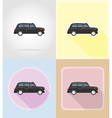 old retro transport flat icons 06 vector image vector image