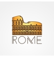 one line minimalist icon of Coliseum Rome vector image vector image