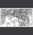 oslo norway map in black and white color vector image
