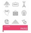 Paris icon set vector image vector image