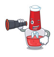 sailor with binocular nail polish mascot cartoon vector image