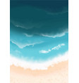 sand beach with ocean wave on top view background