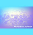 scientific molecule background for medicine vector image vector image