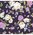 seamless floral shabchic pattern vector image vector image