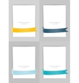 set banners with ribbons vector image vector image