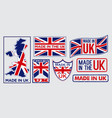 Set made in united kingdom label for retail