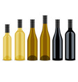set of bottles of wine flat design vector image