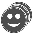 smile coins flat icon vector image