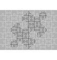 stencil of puzzle pieces third variant vector image vector image