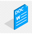 text file format doc isometric icon vector image vector image
