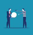 thief stealing ideas from business person concept vector image vector image