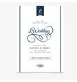 wedding invitation vintage vanilla background vect vector image vector image