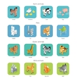 Wild Exotic and Farm Animal Set Isometric vector image vector image