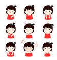 xavariety girl face expression vector image vector image