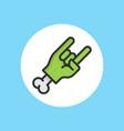 zombie hand icon sign symbol vector image vector image